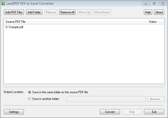 LeadPDF PDF to Excel Converter